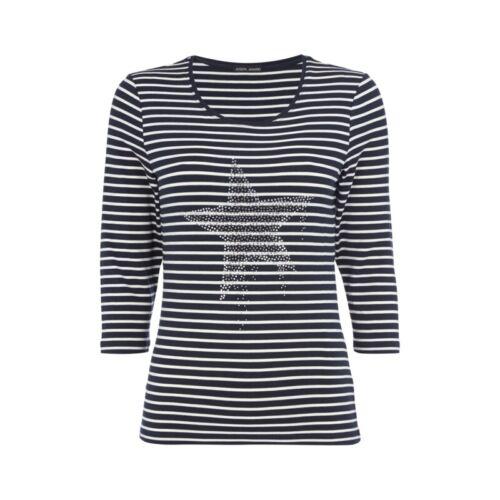 Joseph Janard Shirt mit Ziersteinbesatz Damen Größe 38 40