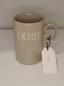 Rae-Dunn-Rare-Studio-Boutique-by-Magenta-ENJOY-Coffee-Latte-Mug-HTF