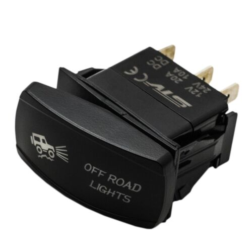 Dual Backlit OFFROAD LIGHTS BLUE Rocker Switch ON//OFF Horizontal UTV OFFROAD