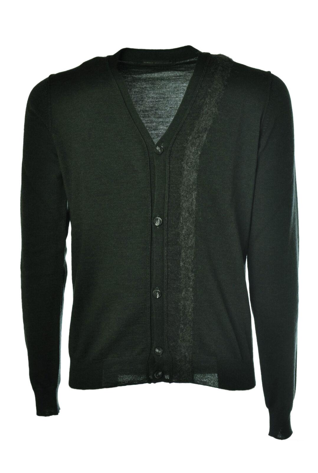 Daniele Alessandrini - Knitwear-Cardigan - Man - Grün - 449815C184058