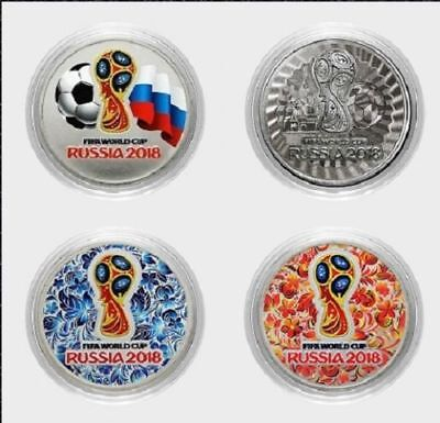 """Russia coins,World Cup 2018,set of coins /""""Zabivaka-Fifa-2018/""""-colored,new,UNC!"""