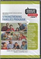 Mothers Against Drunk Driving Strengthening Families Program dvd new