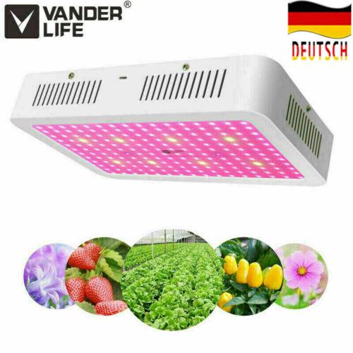 DE1500W LED Pflanzenleuchte VollSpektrum Pflanzenlampe Wachstumslampe Grow Licht