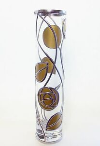 Charles Rennie Mackintosh Inspired Golden Rose amp Leaf Glass Art Deco Style Vase - Durham, United Kingdom - Returns accepted Most purchases from business sellers are protected by the Consumer Contract Regulations 2013 which give you the right to cancel the purchase within 14 days after the day you receive the item. Find out more about y - Durham, United Kingdom