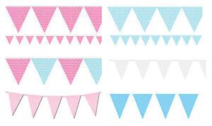 Bandierine-Blu-Rosa-20-BANDIERA-BABY-SHOWER-BOY-GIRL-Bandiere-Matrimonio-Compleanno-Pastello-10M