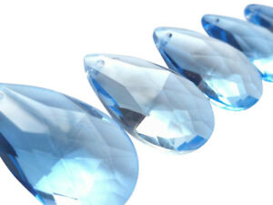 Light Blue Mm Teardrop Chandelier Crystals Prisms Cornflower - Chandelier crystals blue