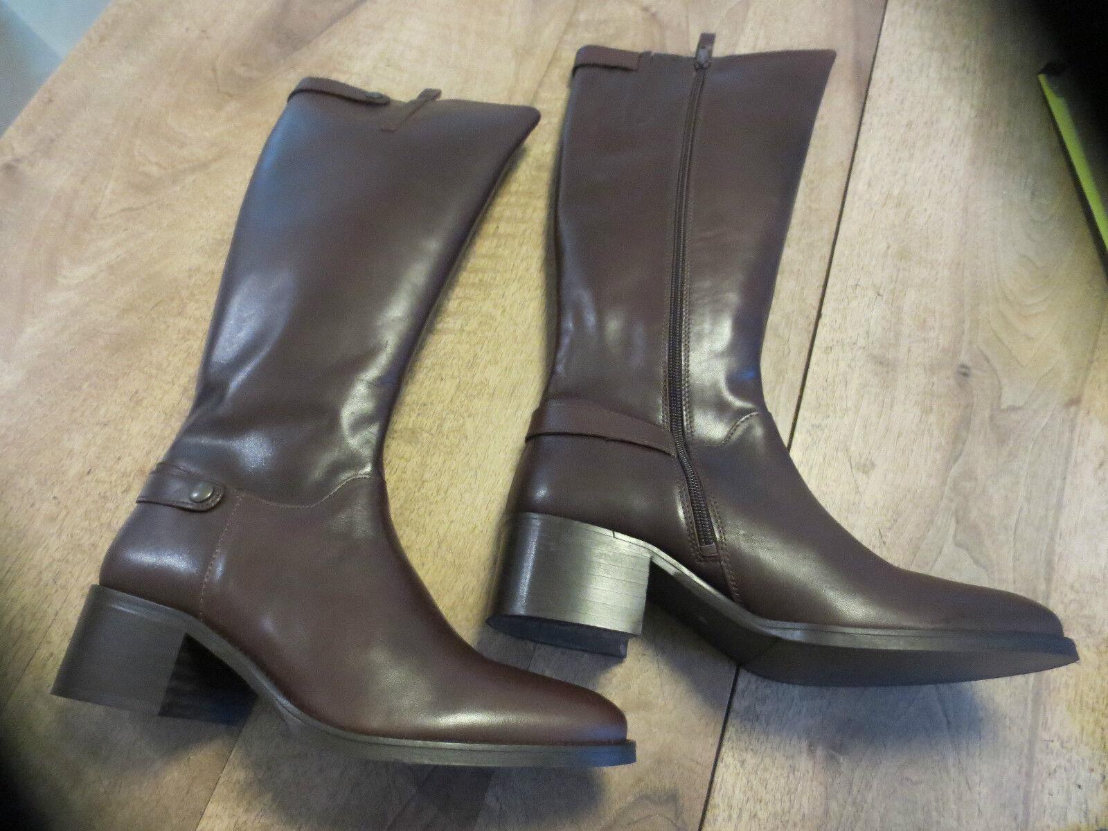 Stivali di pelle Marroneee M par M Neuve val189E Tacco 5,5 cm numeri 36,38,40