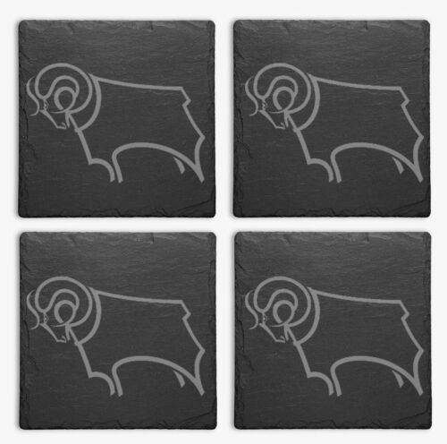 Derby County Slate Coasters Pack of 4
