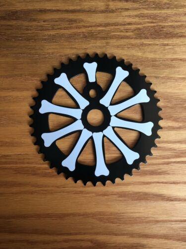 """NOUVEAU lowrider bike BONES pignon 1//2/"""" x 1//8/"""" 44 T Noir//Blanc chopper bicycle"""