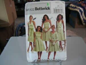 1980/'s Butterick Misses/' DRESS /& SASH Pattern----Size 12