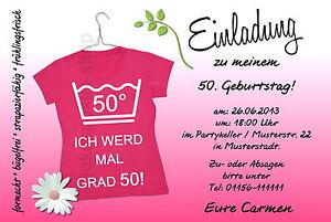Das Bild Wird Geladen 10 T Shirt Pink Einladungskarten Geburtstag  Einladungen Geburtstagseinladungen