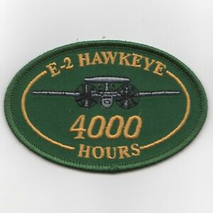 USN NAVY E-2 4000 HOURS HAWKEYE OVAL GREEN EMBROIDERED ...