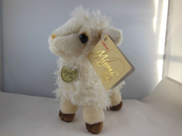 Miyoni Tots Baby Lamb 7 Plush Fluffy Sheep Stuffed Animal Aurora Ebay