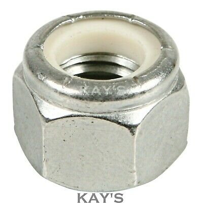 """IMPERIAL 3//8/"""" UNF NYLOC NUTS P TYPE ZINC PLATED PACK OF 100"""
