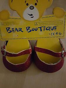 build a bear Schuh rot Spangenballerina