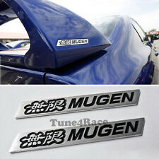 Honda mugen Black spoiler emblem badge sticker civic SI Trunk 2 pieces JDM