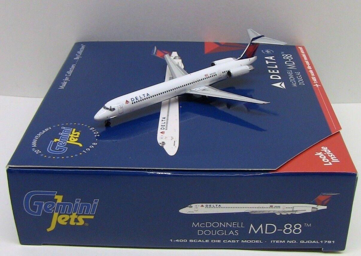 Gemini Jets Delta McDonnell Douglas MD-88 GJDAL1791 1//400 REG#N903DE New