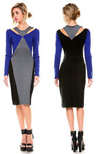 WOMENS FASHION CASUAL LONG SLEEVE BODYCON CLUBWEAR COCKTAIL PARTY EVENING DRESS