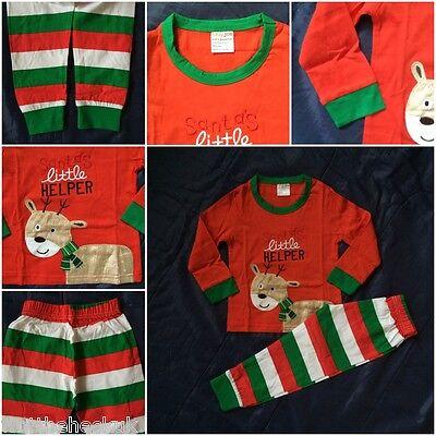Ladies Christmas Xmas Pyjama Set Night Wear PJ/'s UK 14 Green With reindeer