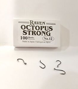 Raven Octopus Hooks, Size 12, 100 Ct Pack