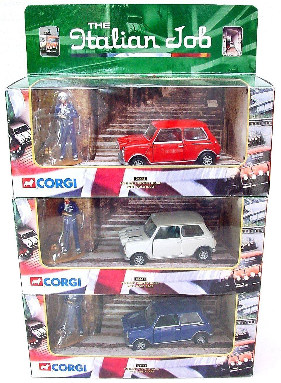 Corgi Toys 1:36 3x MORRIS MINI COOPER ITALIAN JOB Rally Car Set MIB`00 TOP RARE!