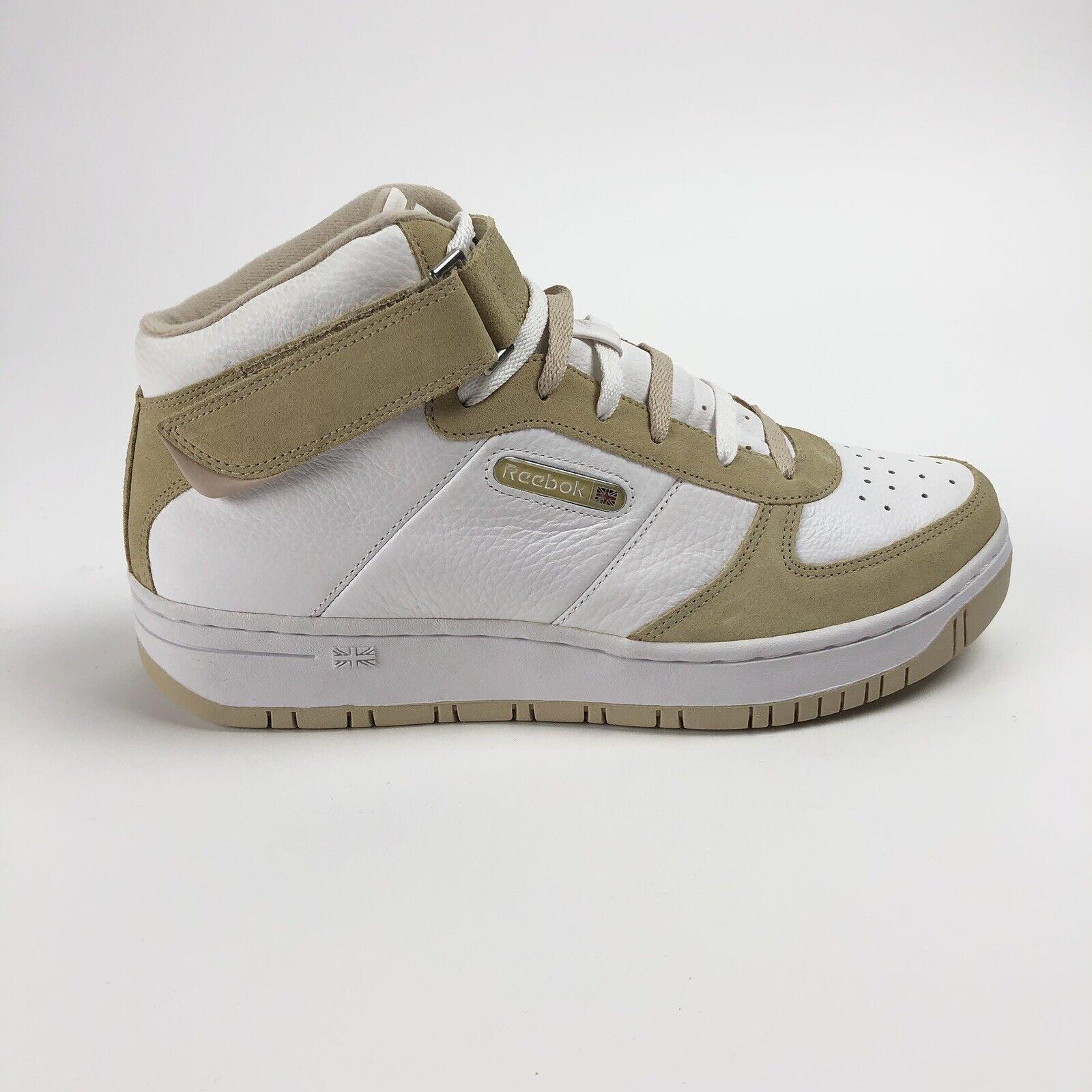 Reebok Classic Amaze Mid Strap Mens 9 Taupe White shoes Retro Sneakers 4-93825