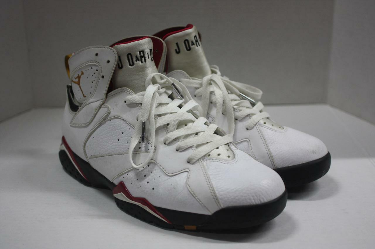 NikeAit Jordan Retro 7 White Bronze Red Basketball shoes Size 11.5 (304775 104)