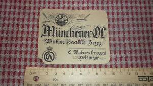 1940s-DANISH-BEER-LABEL-WILBROES-BRYGGERI-HELSINGOR-DENMARK-MUNCHENER-OL