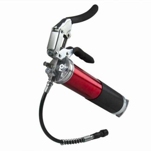 "Manual 6000 PSI Grease Gun w//12/"" Flex Hose Pistol Grip 400cc 14oz Lubrication US"