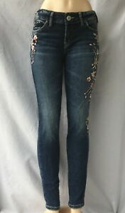 NEW-Silver-Jeans-Women-039-s-ELYSE-SKINNY-Leg-Mid-Rise-90403A