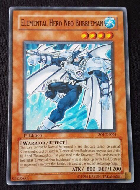 Yugioh - Elemental Hero Neo Bubbleman (SOI-EN004) (Common) (1st Ed) (M/NM)