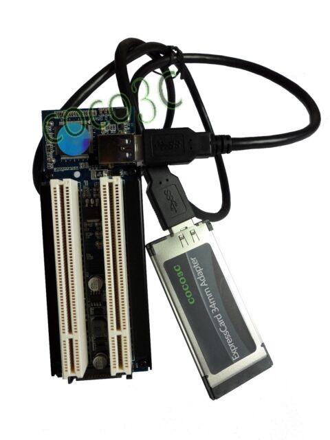 Laptop Expresscard 34 To 2 PCI slots adapter Express Card convert PCI riser card