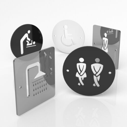Gents Toilet Sign Male Shower Door Sign Ladies Baby Change Disabled Female