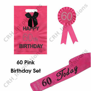Image Is Loading Hot Pink 039 60 Today Sash 60th