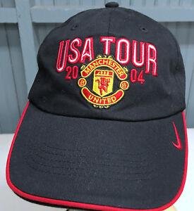 Image is loading Manchester-United-USA-Tour-2004-Nike-Adjustable-Baseball- 6c6d086170e