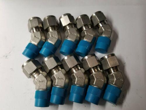 10 nuevo Swagelok Acero Inoxidable 45 ° Macho Codo adaptador del tubo 3/8x1/4 SS-600-5-4