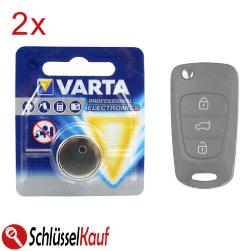 2x VARTA Auto Schlüssel Batterie passend für Hyundai i20 i30 ix35 Kia Ceed Rio