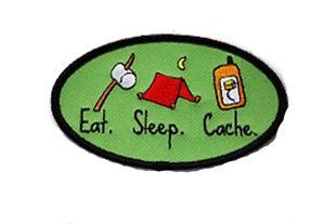 Eat-Sleep-Cache-Geocaching-Patch-Aufnaeher