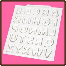 Domed Upper Case Alphabet Silicone Mould Mat Cake Decoration Sugarcraft Katy Sue