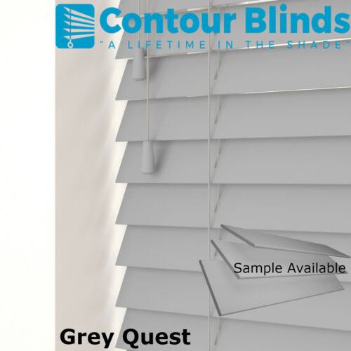 +NEW COLOUR CALM WHITE FAUX WOOD WOODEN VENETIAN BLINDS MADE TO MEASURE