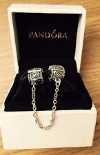 GENUINE PANDORA SILVER S925 ALE Dreamer Clips Safety Chain Love GIFT BOX 790583