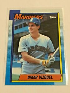1990-Topps-Baseball-Rookie-Card-Omar-Vizquel-RC-Seattle-Mariners