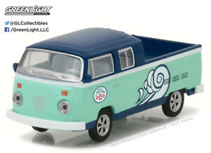 Greenlight-1-64-Volkswagen-Type-2-Double-Cab-Pick-Up-DOKA-Hawaii-Surf-Shop-HOBBY