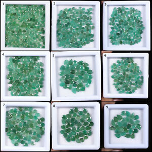 Top-Natural-Untreated-Zambian-Emerald-Pear-Cut-Loose-Gems-Wholesale-Lots