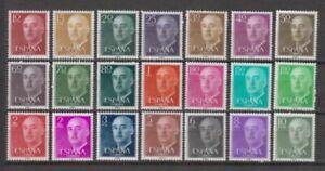 SPAIN-1955-MNH-Sc-815-35-EDIFIL-1143-63-FRANCO