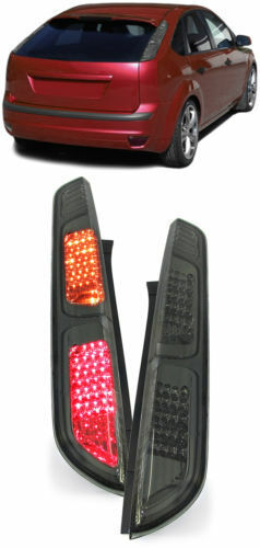 ALL SMOKED LED REAR LIGHTS LAMPS FORD FOCUS MK2 5 DOOR HATCHBACK 11//2004-02//2008