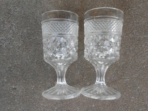"""TWO Anchor Hocking 4 oz  WEXFORD  5 1//2/"""" Stemmed Drinking//Wine//Water Glass"""