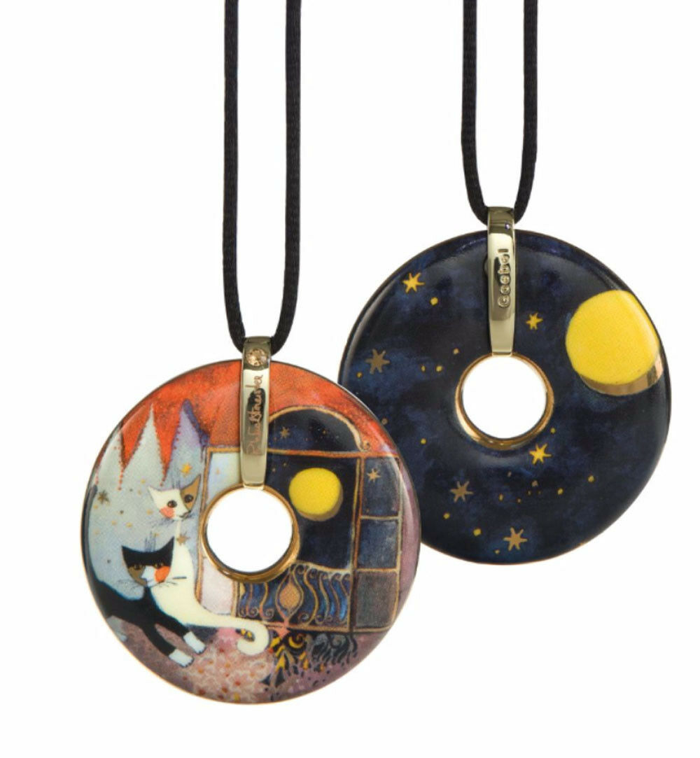 Goebel Kette Rosina Wachtmeister Amulett aus Porzellan Amici della luna Kette