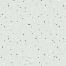 Art Gallery Nightfall Luminaries Silver Fabric / quilting blue star Christmas