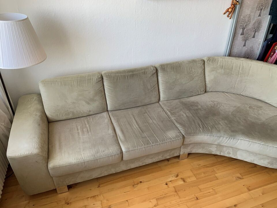 Sofa, ruskind, 4 pers.
